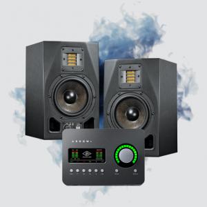 studio monitors and interface bundle