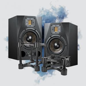 studio monitors and stands bundle